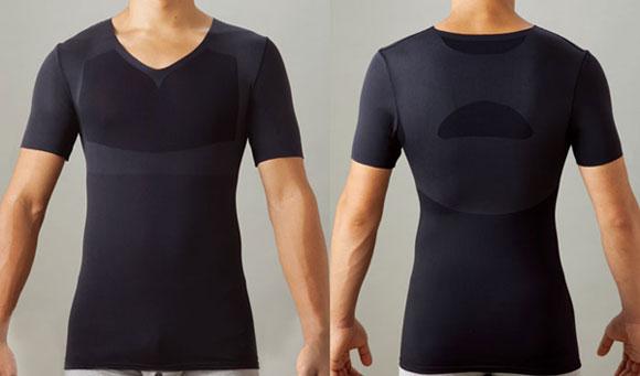 メンズシセイスト 半袖/ブラック