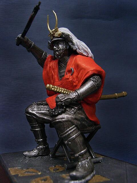 八幡原での上杉謙信との一騎打ちを元に武田信玄を造形化しました。