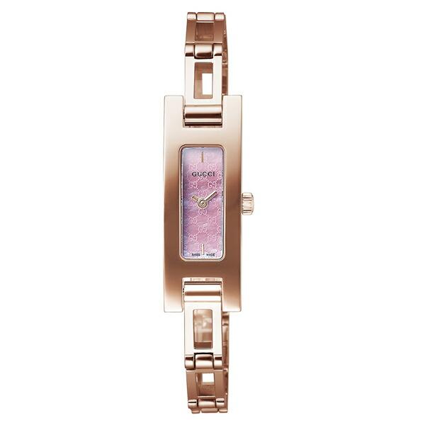 グッチ 腕時計 GUCCI 時計 レディース スクエアバングル / ピンクパール