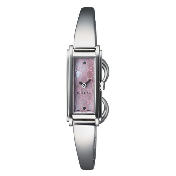 グッチ 腕時計 GUCCI 時計 レディース G-LINE 2P ダイヤモンド バングルタイプ / ピンクパール