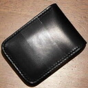 CS-black - kurobane ( CROW: Crow) - ハーフウォレット ( short wallet: 2 fold wallet)