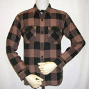 52 HN-52W- brown - heavy flannel shirt-HN52W-FLATHEAD-flat head shirts