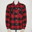 HN-52WR-red - channel block check shirt 52 regular size - HN 52WR-FLATHEAD-flat head t-shirt