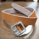 OB-002 - Brown --bovine-OB002-FLATHEAD-flat head leather belt - double pin buckle belt