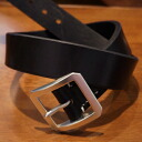 OB-003 - black - single-beef-OB003-FLATHEAD-flat head leather belt - single pin buckle belt