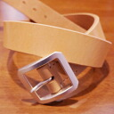 OB-003 - saddle leather - single-beef-OB003-FLATHEAD-flat head leather belt - single pin buckle belt