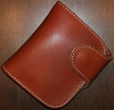 P-01 - ハーフウォレット of the popular horse riding regular-P01-REDMOON (Red Moon) ( short wallet: 2 fold wallet)