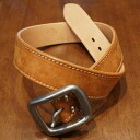 A 109HS-Pueblo leather belt - SAMURAIJEANS-Samurai jeans belt