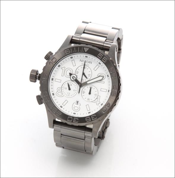 【NIXON】ニクソン メンズ 腕時計 4220 (フォーティーツートゥエンティー クロノグラフ)メンズ ブレスウオッチ(ガンメタル)A037-486