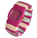 Time Will Tell time will tell ( time will tell ) watch Multi Colors emblazoned & Rainbow modern & vintage pop Bangle, breath and watch Multi-FURA P06Dec14