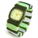 Time Will Tell time will tell ( time will tell ) watch Multi Colors marble green & Rainbow modern & vintage pop Bangle, breath and watch Multi-VMRA P06Dec14