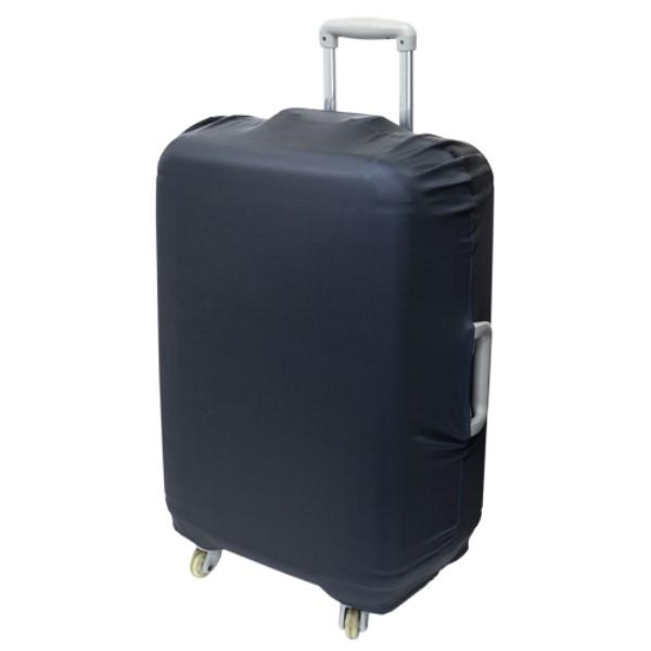 ミヨシ スーツケースカバー シンプルタイプ ブラック 旅人専科 MBZ-SCL3/BK