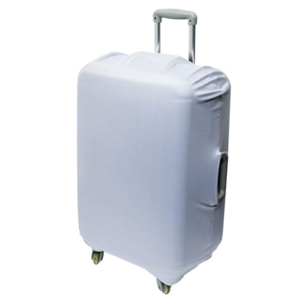 ミヨシ スーツケースカバー シンプルタイプ シルバー 旅人専科 MBZ-SCL3/SL