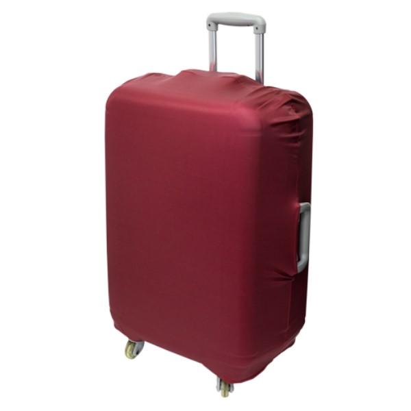 ミヨシ スーツケースカバー シンプルタイプ ワインレッド 旅人専科 MBZ-SCL3/WR