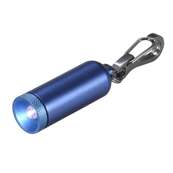 OHM ミニLEDライト カラビナ型キーリング付 ブルー LED-YK4-B