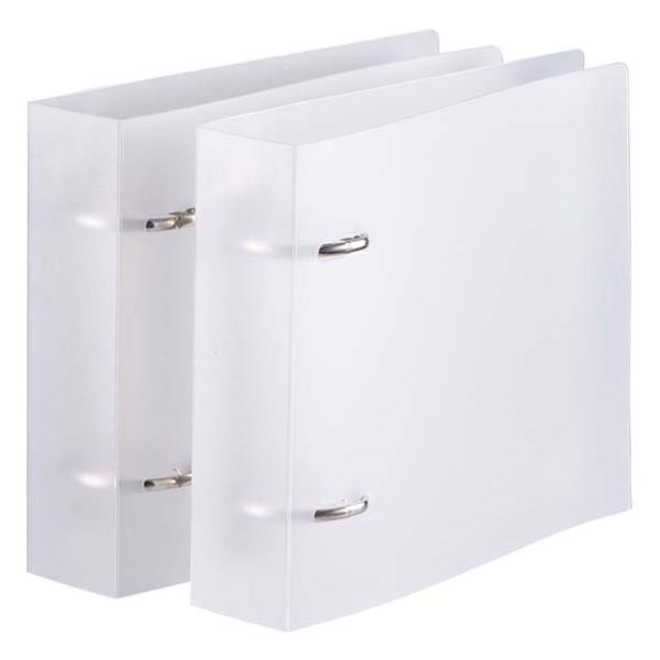 OHM 不織布スリーブ専用 リング式バインダー 24枚収納×2冊入リ ホワイト OA-RBC24-W