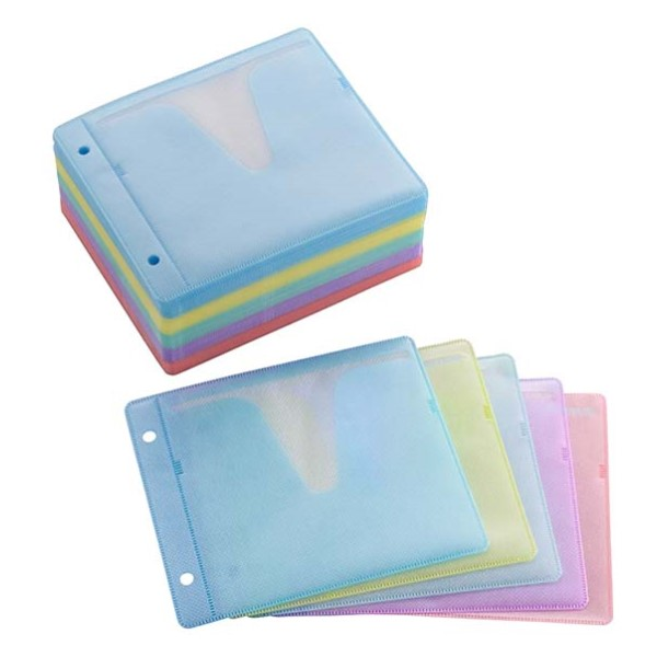 OHM DVD&CDスリーブ 2枚収納×100枚入リ カラー DVD/CD対応 OA-RSL100-MX