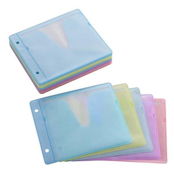 OHM DVD&CDスリーブ 2枚収納×50枚入リ カラー DVD/CD対応 OA-RSL50-MX
