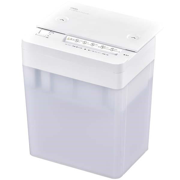 OHM 卓上マイクロカットシュレッダー A6サイズ対応 容量3.8L ホワイト SHR-M203-W