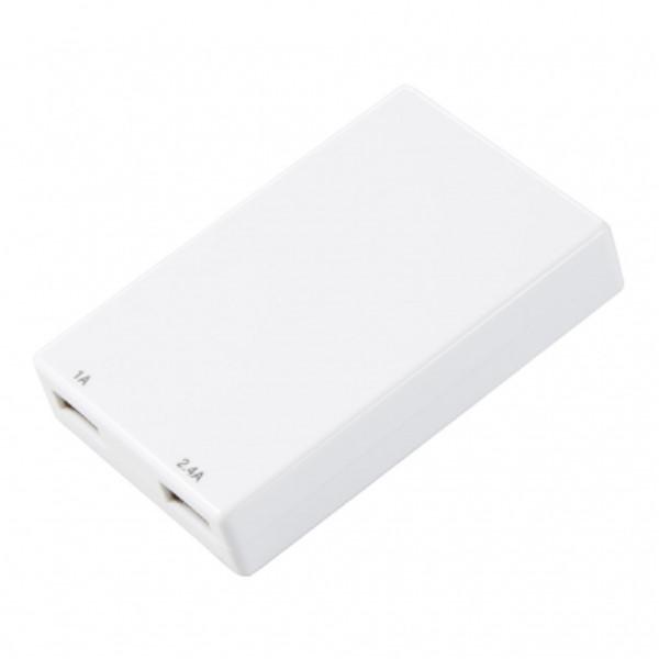 【期間限定ポイント5倍】ヤザワ USB-ACアダプター USB2ポート/3.4A出力対応 ホワイト スマートフォン/タブレット/ファミコン クラシック ミニ/PS Vita対応 Y02C200WH2U