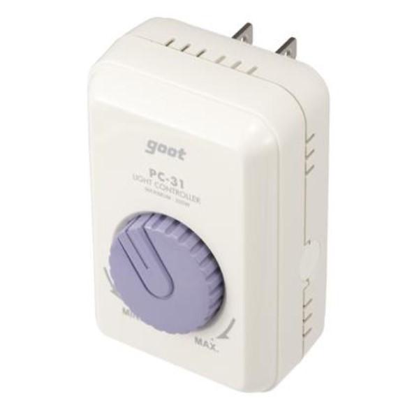 ヤザワ ライトコントローラー 調光器 ホワイト PC31YA