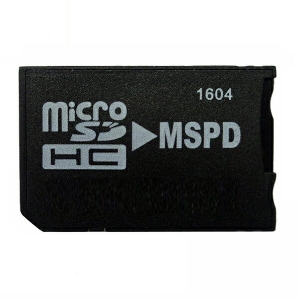 【返品保証】マイクロSD-メモリースティックPro Duo変換アダプター ~32GB 収納ケース付 microSD-MSPD変換 PSP対応 MC-MSPD