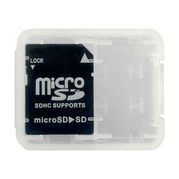 【期間限定ポイント2倍】【返品保証】マイクロSD-SDカード変換アダプター ~32GB 収納ケース付 microSD-SD変換 MC-SDHC