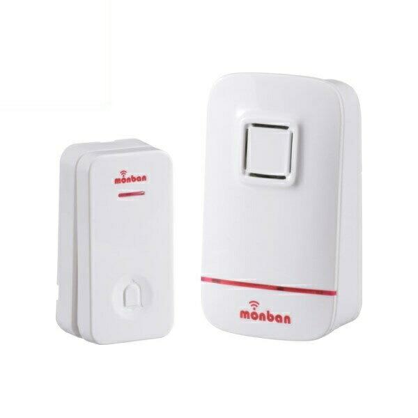 OHM ワイヤレス コールチャイム 瞬間発電式押シボタン送信機+電池式受信機 OCH-EC80