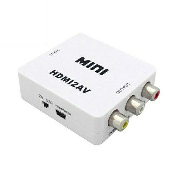 【返品保証】【送料無料】HDMI to AV変換アダプター HDMIをAV端子変換 ダウンスキャンコンバーター 3A-HDAV100