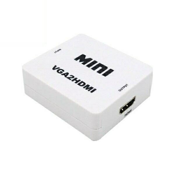 【期間限定ポイント2倍】【返品保証】【ネコポス送料無料】VGA to HDMI変換アダプター VGAをHDMI変換 アップスキャンコンバーター 3A-VGHD100