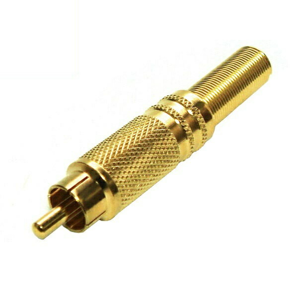【返品保証】自作用アダプタ RCAプラグ 5Cケーブル用 2個入り 金メッキ