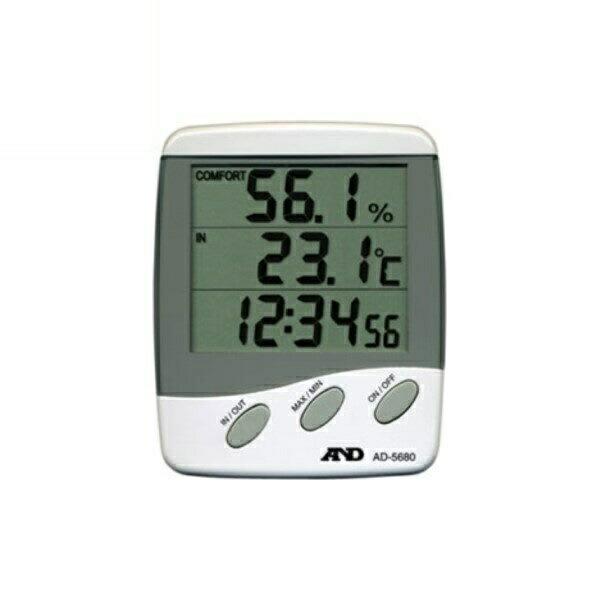 A&D/エー・アンド・デイ 温湿度計 外部センサー付き AD-5680