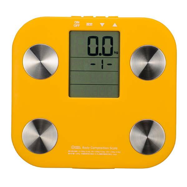 【72時間限定ポイント5倍】OHM 体重体組成計 ヘルスメーター オレンジ HB-K90-D
