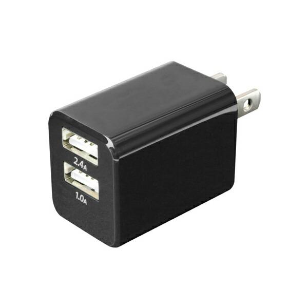 ミヨシ 旅人専科 旅行用USB充電器 2.4A ブラック MBP-24UBK