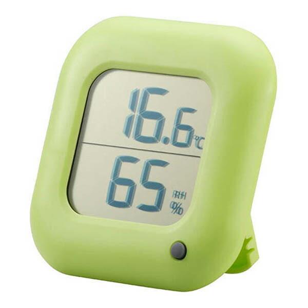 OHM デジタル温湿度計 グリーン TEM-100-G