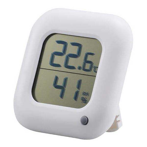 OHM デジタル温湿度計 ホワイト TEM-100-W