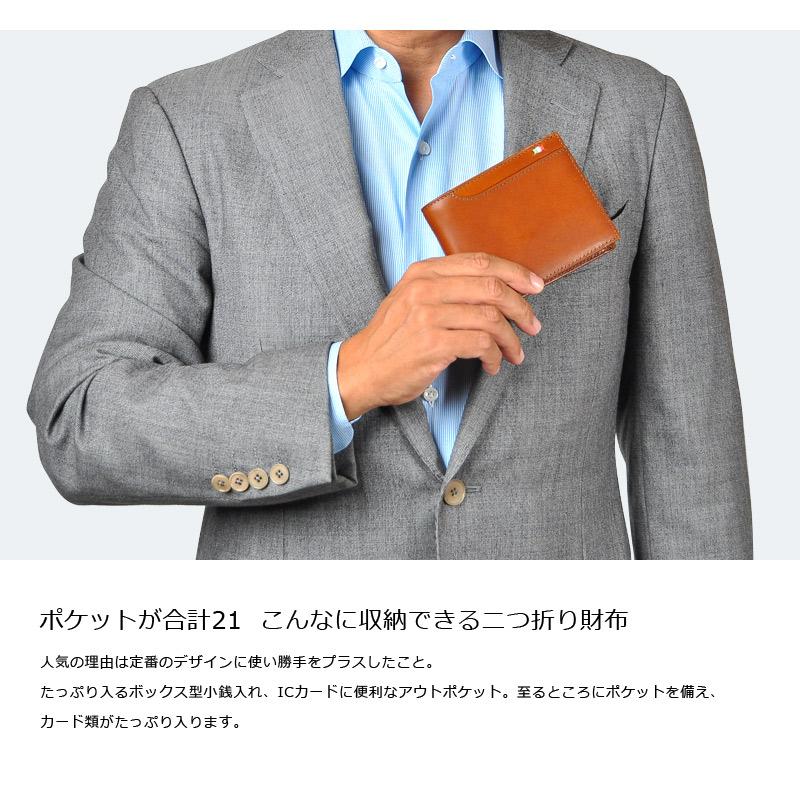 Milagro イタリアンレザー BOX小銭入れ21ポケット二つ折り財布 ca-s-2108 ポケットが合計21  こんなに収納できる二つ折り財布