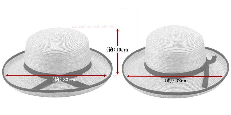 田中帽子店 uk-h041 Lily リリー エッジアップ パイピング 麦わら帽子(57.5cm) サイズ