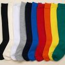 Plain solid color kids knee socks made in Japan find 3 feet 1050 yen