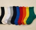 Plain weave supporters solid color kids crew socks Japan-find 3 feet 1050 yen