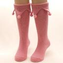 Cute Pom Pom with Bolten kids socks, knee-high socks