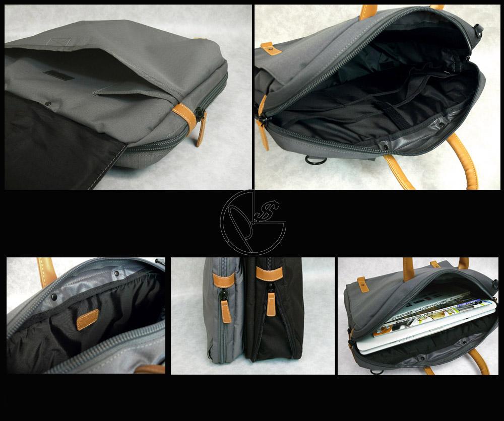 作为男子商务手提包SPM 3way公文包灰色挎包,帆布背包,也...