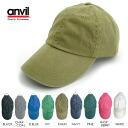Anvil ソリッドシックス Panel pigmented cotton cap * review outside the campaign * men's women's solid color Cap Hat gender unisex unisex one size fits all