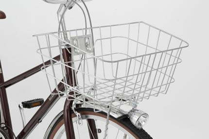 ワイヤーカゴの自転車
