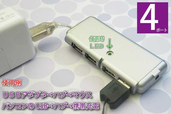 USBハブ使用例