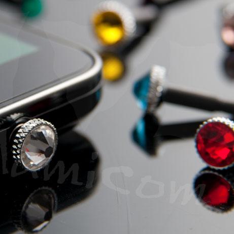 iPhoneスワロフスキーイヤホンキャップ