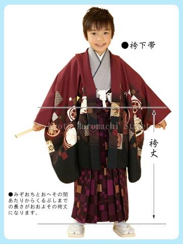 男の子の袴丈と適応身長