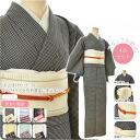 Unlined variety outing set L size, 4-piece set ( unlined kimono Nagoya-Obi Leno band fried g ) 1-6 fs04gm