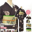 GL[women-coat] Women's Beginners Casual Kimono Dressing 4 Items Set(Kimono, Nagomiya Obi Sash, Obiage Sash Cushion Belt, Obijime Sash Cord)/ M Size No. 1-6 [Designed in Japan] fs04gm