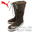PUMA (PUMA) SNOW PULL-ON BOOT WNS (スノープルオン boots women's) chocolate brown
